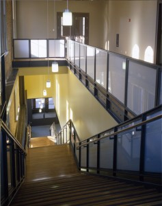 Down Callahan Hall Stairs