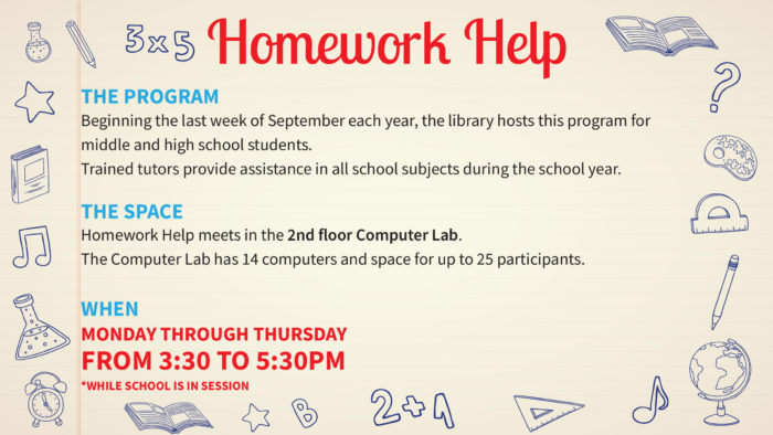 Online homework help for middle school students